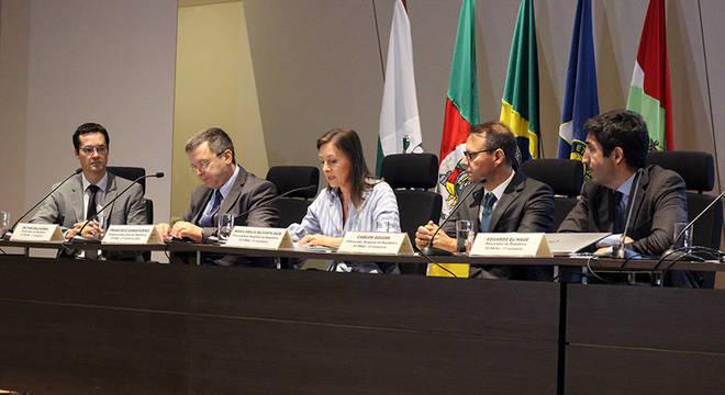 Procuradores Dallagnol (PR), Sanseverino (PGR), Maria Emília (RS), Carlos Aguiar (RJ) e El-Hage (RJ)