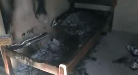 Cama de caseiro incendiada por Lázaro