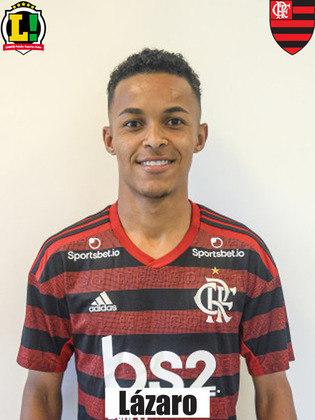 LÁZARO - 6,0 - Não fez a partida criativa que se espera dele. Faltou arriscar mais, apesar de ter enfrentado um time fechado. Por outro lado, foi quem mais desarmou pelo Flamengo.