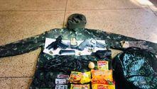 Além de R$ 4,4 mil , Lázaro levava duas armas, remédios e comida