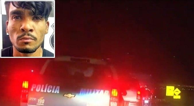 Centenas de policiais civis e militares participam da caçada ao criminoso