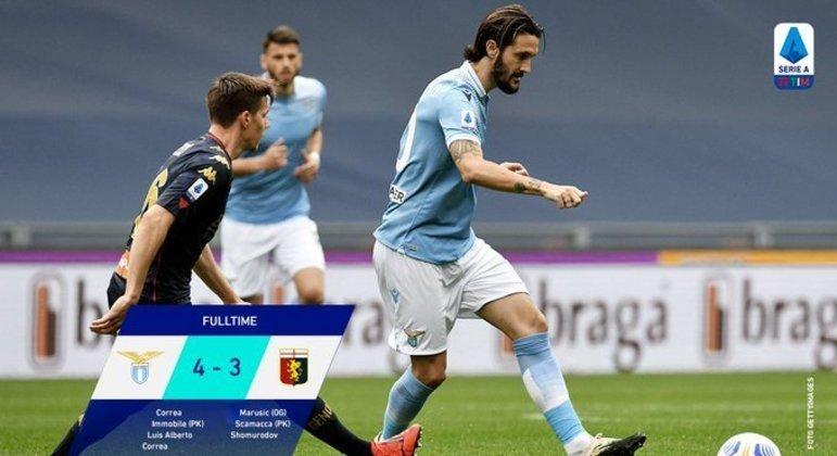 O momento do gol de Luís Alberto, da Lazio