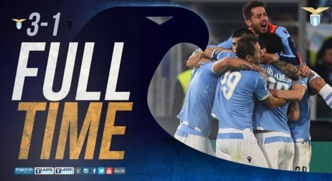 Primeira vitória da Lazio, como mandante, desde Dezembro de 2003