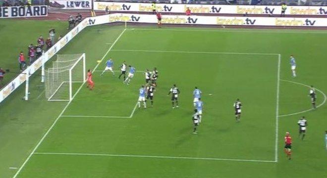 O momento do gol do empate da Lazio, por Luiz Felipe