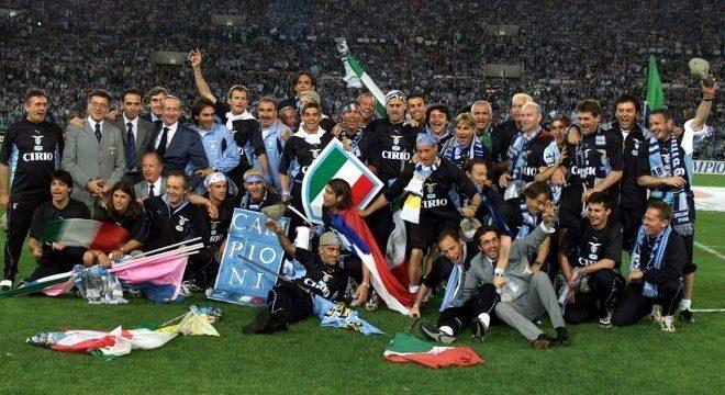 A Lazio campeã de 1999/2000
