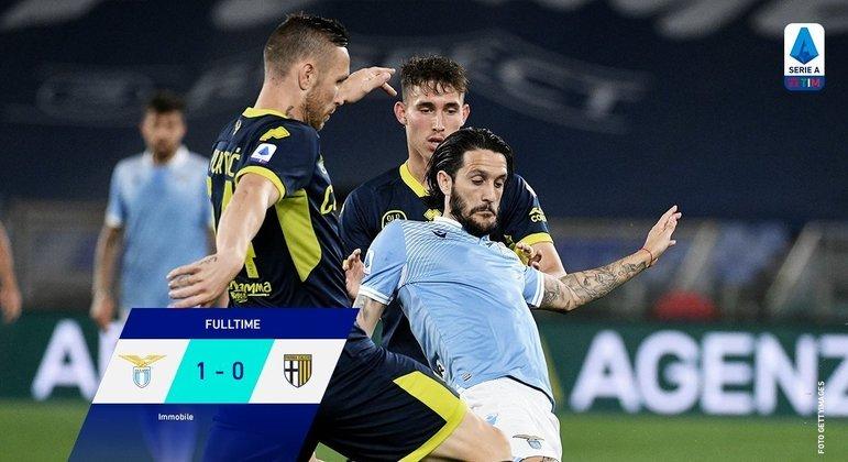 A Lazio, o tento da vitória aos 95' da peleja