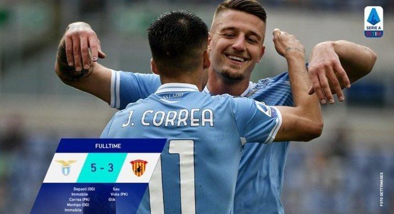 Lazio, Immobile fez dois mas perdeu um pênalti
