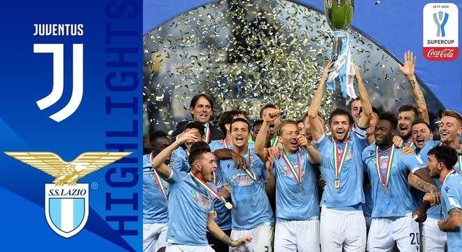 A Lazio, campeã da Supercopa de 2019i