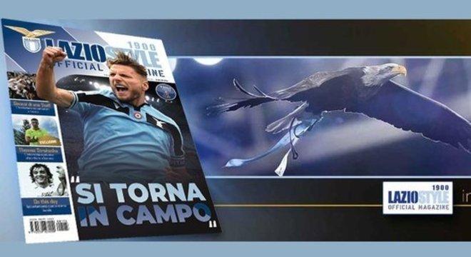 """Na revista da Lazio, a """"Águia"""", o artilheiro Ciro Immobile"""