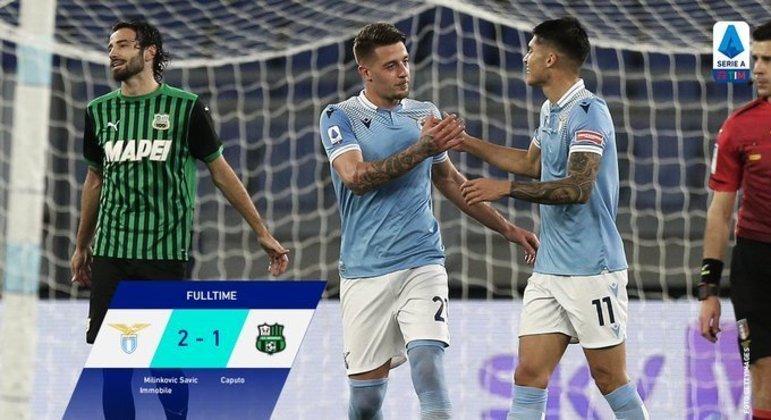 Lazio, um triunfo importante num confronto direto por posição