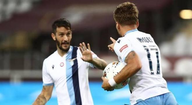 Parolo e Immobile, os autores dos tentos de Torino 1 X 2 Lazio