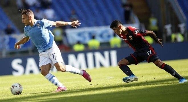 Lazio goleia Genoa por 4 a 0, neste domingo (29), pelo Campeonato Italiano