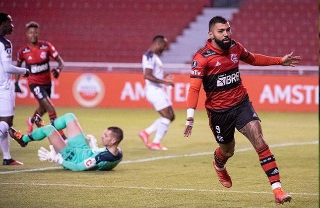 LDU (EQU) 2x3 Flamengo - 3ª rodada da fase de grupos da Libertadores, no Casa Blanca - Mais dois gols de Gabi e um de Bruno Henrique garantiram a vitória no Equador