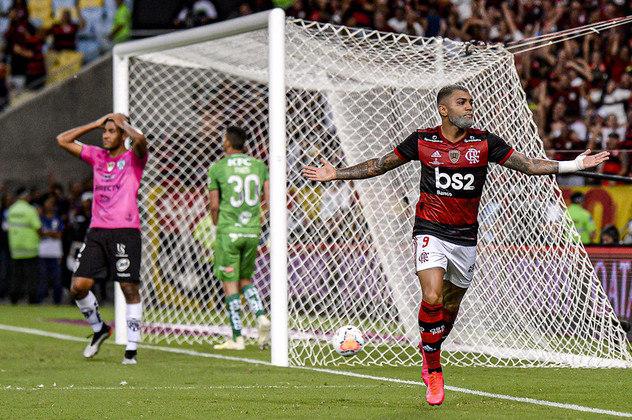 LDU (EQU), San José (BOL), Del Valle (EQU), Barcelona (EQU), Racing (ARG), Americano, Boavista, Madureira, Resende, CSA, Corinthians, Bahia, São Paulo e Ceará são os times que Gabriel Barbosa fez um gol pelo Flamengo.