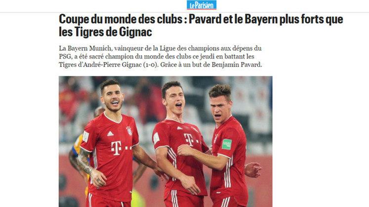 Le Parisien - O tradicional jornal da França destacou a vitória do Bayern e também o francês Pavard, autor do gol do título.