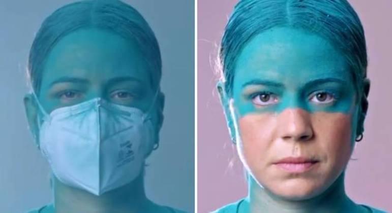 """""""Se você ainda está na dúvida, a gente te mostra que a máscara funciona como uma barreira física"""""""