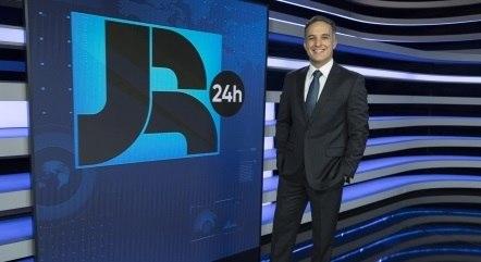 Leandro Stoliar é um dos apresentadores do Boletim JR 24 Horas