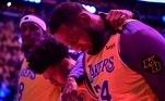 Lebron James em homenagem a Kobe Bryant
