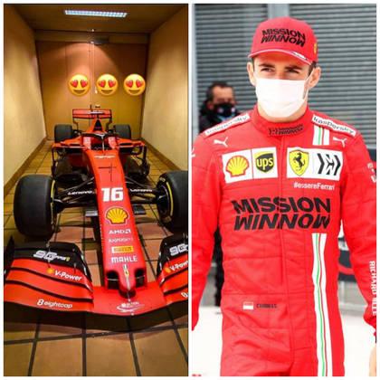 Por mais que ande em um Fórmula 1 a cada fim de semana, o sonho de todo o piloto é ter seu próprio carro na garagem. Charles Leclerc realizou esse desejo nesta semana, antes do GP da Emilia-Romagna