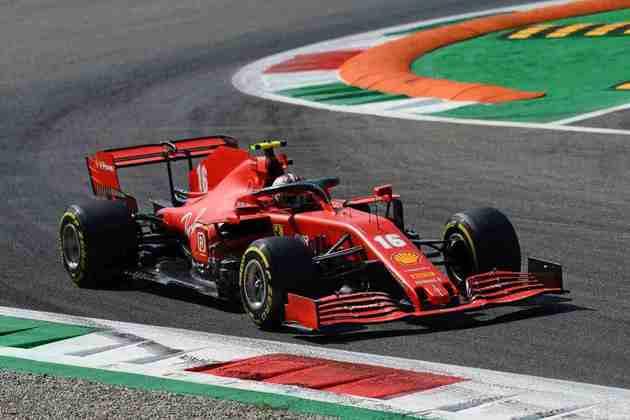 Leclerc foi o nono colocado no segundo treino livre em Monza
