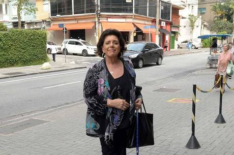Leda, mãe de Duda, foi ao hospital acompanhar a nora