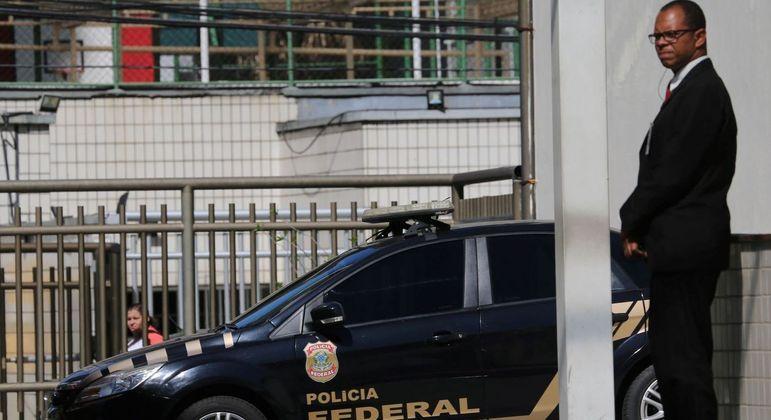Viatura da Polícia Federal no Rio de Janeiro