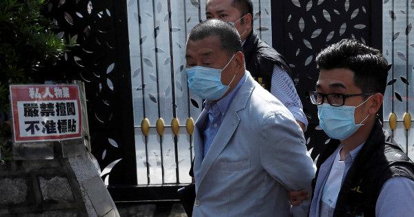 Magnata de Hong Kong, Jimmy Lai é preso sob a nova lei de segurança