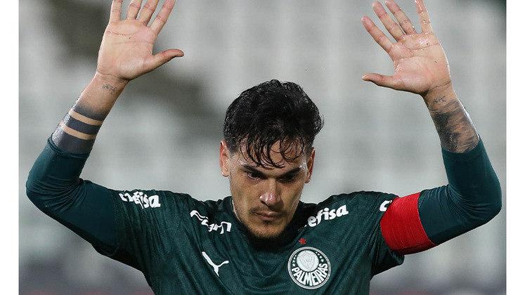 Lei do ex em ação. Gustavo Gómez marca no empate por 1 a 1 contra o Libertad, no Paraguai