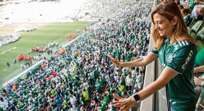 Palmeiras se rende à força econômica e ao trabalho intenso de Leila, na busca da presidência