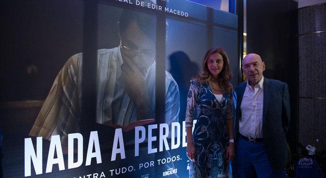 Leila Pereira, presidente da Crefisa, e o marido, José Roberto Lamacchia