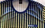 A camisa de Guga autografada também está entre as mais de 100 peças do leilão. As apostas estão em R$ 2,4 mil