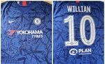 Essa camisa do Chelsea usada pelo atacante Willian pode ser comprada por R$ 600