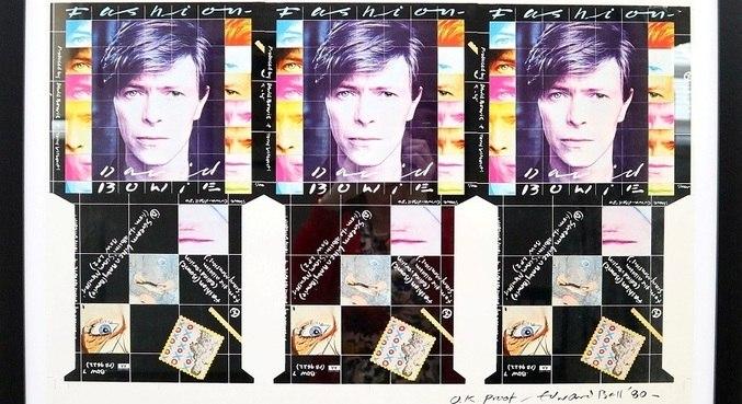"""Arte do single """"'Fashion', de David Bowie, que será leiloada"""