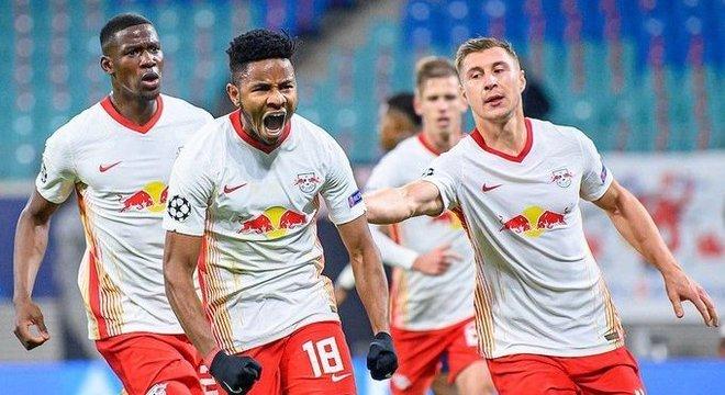 A vibração de Nkunku, pelo tento do empate do Leipzig