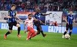 Leipzig 1x2 Club BruggeNa partida entre Leipzig e Club Brugge, o time belga manteve o bom futebol apresentado contra o PSG na primeira rodada e venceu a equipe alemã de virada por 2 a 1