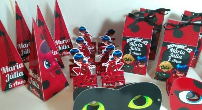 Lembrancinhas para kit festa ladybug