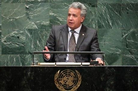 Presidente Moreno em discurso na ONU