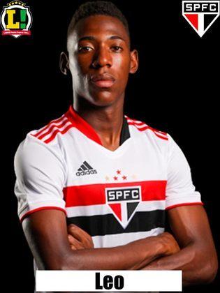 Léo - 5,5: Pecou em alguns momentos na saída de bola, mas não comprometeu no posicionamento defensivo.
