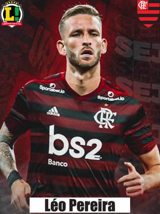 Léo Pereira - 4,0 - Consolidado como titular, Léo errou saída de bola, em cortes por cima e levou cartão amarelo ainda na etapa inicial. Não transmitiu segurança quando o Flu atacou. Nos pênaltis, isolou.
