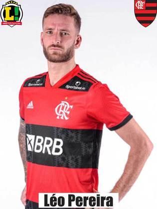 Léo Pereira: 6,5 – Também inativo durante um tempo, Léo Pereira voltou bem ao sistema defensivo. Também mostrou segurança e ajudou na saída de bola com os pés.