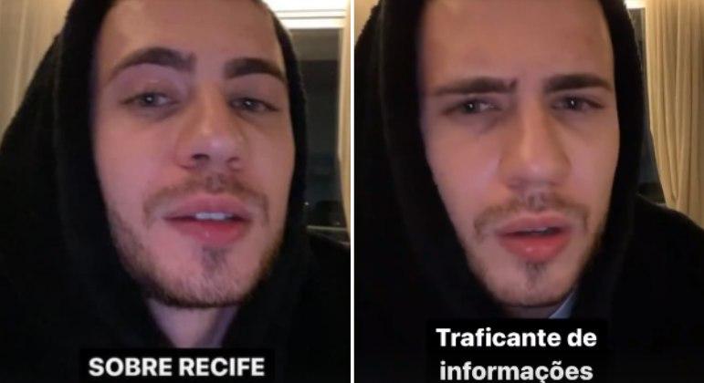 Leo Picon rebate críticas após vídeo chamando criança de 'traficante'