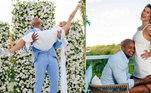 Léo Santana e Lore ImprotaJuntos há cerca de 4 anos, Léo Santana e Lorena Improta terminaram e reataram algumas vezes. Depois de se acertarem, eles ficaram noivos e se casaram em fevereiro deste ano. Atualmente, eles esperam seu primeiro filho juntos