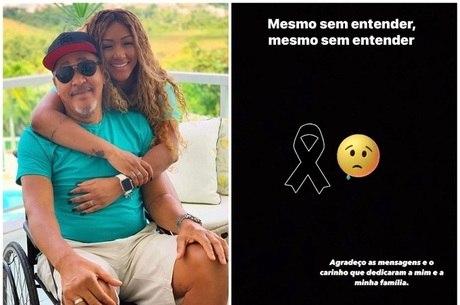 Irmã de Léo Santana lamenta morte do pai