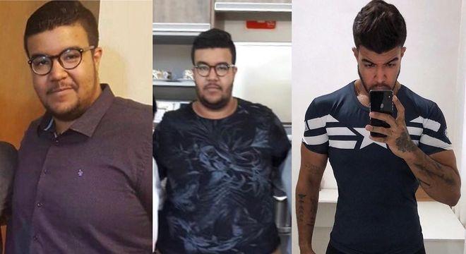 No Instagram, Léo Santos compartilhou sua evolução na dieta