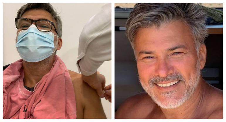Leonardo Vieira foi vacinado contra acovid-19no dia 1º de junho. O ator de 52 anos mostrou o instante da imunização em post publicado nas redes sociais. Na legenda, o artista indicou que recebeu a primeira dose da Pfizer em Portugal