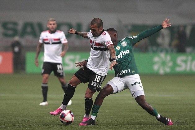 Lesão no joelho - Na primeira partida da final do Campeonato Paulista, Daniel Alves sofreu lesão no joelho e desfalcou a equipe durante um período de um mês.