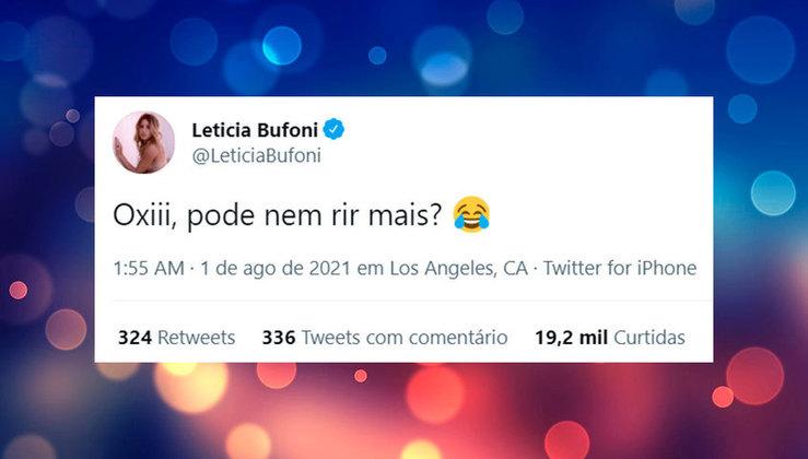 Leticia Bufoni reagiu, questionando se nem rir de uma zoeira podia mais. Pode ou não pode?