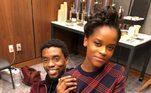 Letitia e Chadwick Boseman, quemorreu no dia 28 de agosto por um câncer de cólon, eram muito próximos. Ela mesmo disse que os dois