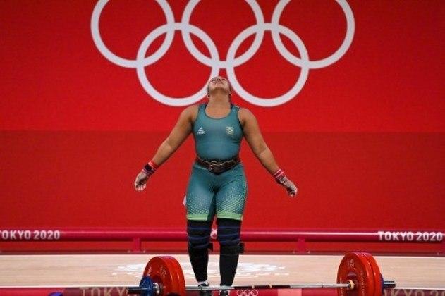 LEVANTAMENTO DE PESO - No levantamento de peso feminino, categoria até 87kg, a brasileira Jaqueline Ferreira não conseguiu classificação para a próxima fase e não tem mais chances de medalha nos Jogos Olímpicos de Tóquio. A atleta ficou na quarta colocação do grupo B, e levantou 215kg no total