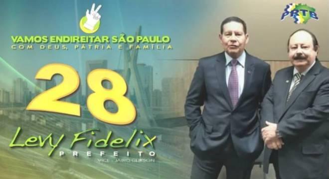 Vice-presidente Hamilton Mourão grava vídeo com Levy Fidelix